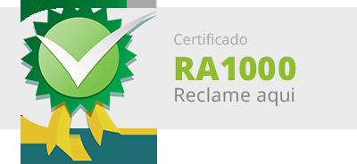 Certificado RA 1000 — Reclame Aqui